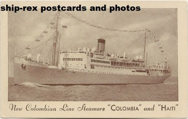 COLOMBIA (Colombian Line) postcard (a1)